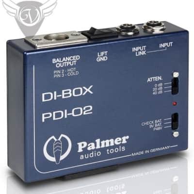 Palmer Audio Tools PDI-02 Active DI Box - Low Noise Discrete Input Amp