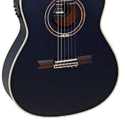 Ortega RCE138T4BK Black Slim Neck Electric/Acoustic Classical Guitar -Blem #XZ70