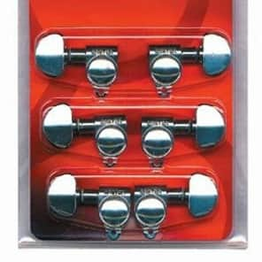 Grover 305C Rotomatic 18:1 Guitar Machine Head Tuners - Set of 6 (3x3) CHROME for sale