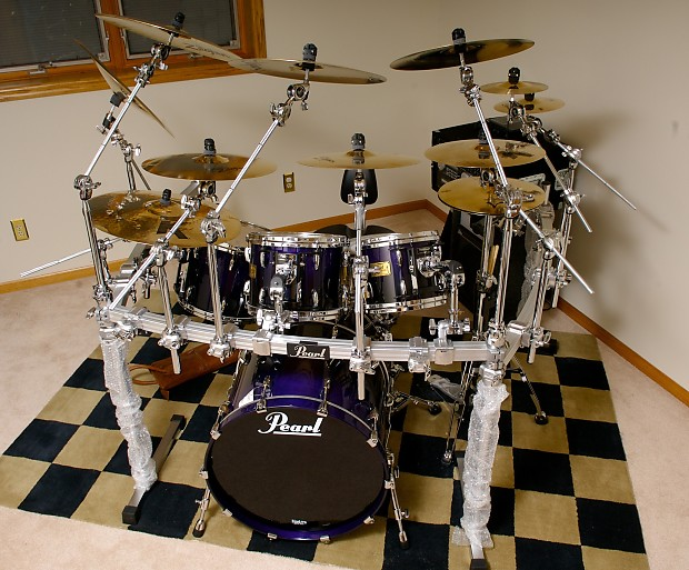 used pearl mmx custom drum kit shells only storm blue reverb. Black Bedroom Furniture Sets. Home Design Ideas