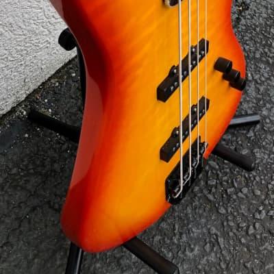 GAMMA Custom Bass Guitar J19 | Beta Model | Quilted Kona Orange for sale