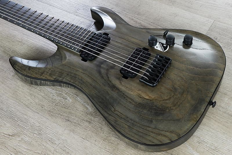 schecter c 7 apocalypse 7 string electric guitar ebony reverb. Black Bedroom Furniture Sets. Home Design Ideas