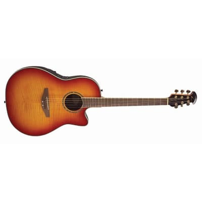Ovation CC28 Celebrity Super Shallow Acoustic/Electric - Honey Burst Quilt (364) for sale