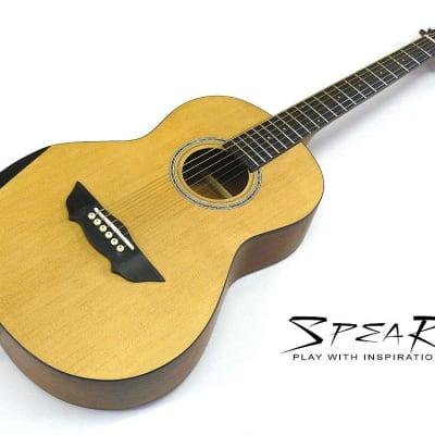 Travel-Guitar / Reise-Gitarre SPEAR® SP 70P E, mit Tonabnehmer und EQ, incl. dick gefüttertes Gigbag for sale