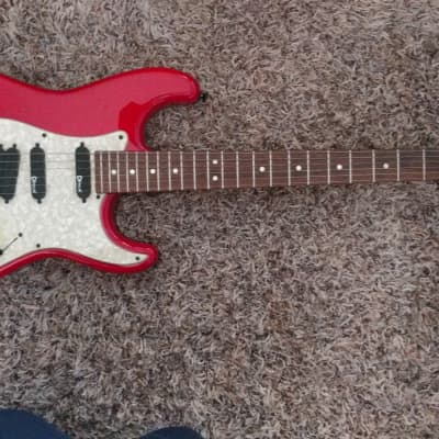 Charvel ST Custom 1990 See Through Candy Apple Red for sale
