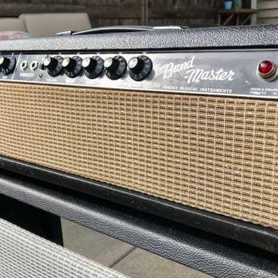 Fender Bandmaster Head 1966 AB763 Blackface w/Mercury Magnetics OT