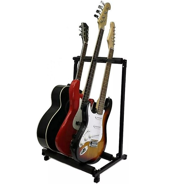3 guitar stand holds 3 guitars multiple display rack holds reverb. Black Bedroom Furniture Sets. Home Design Ideas