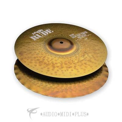 Paiste 14 inch Rude Sound Edge Hi-Hat Cymbal Set - 1123114-697643100497