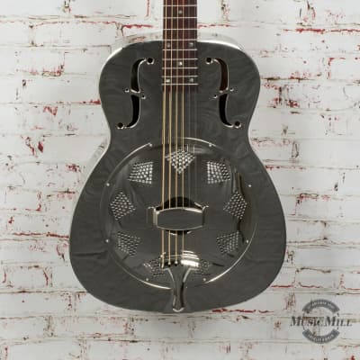 Recording King Metal Body Resonator Style-0 Round Hole x8498 for sale