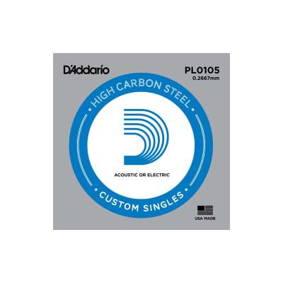 D'Addario Nickel Plain Electric/Acoustic Single String PL0105