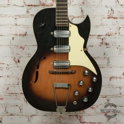 1961-65 Kay Speed Demon Hollow Body Electric Guitar Sunburst x7536 (USED) for sale
