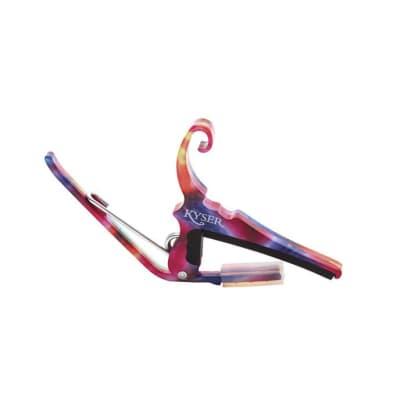 Kyser KG6TDA Quick Change Capo - 6 String Capo - Tie Dye