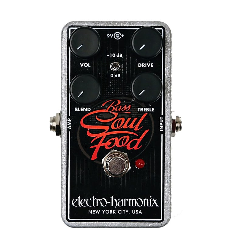 Electro-Harmonix EHX Bass Soul Food Overdrive Effects Pedal