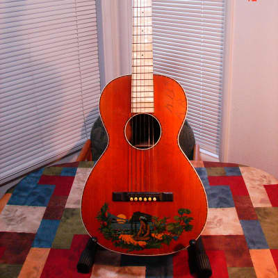 Vintage 1930's Supertone Hawaiian Style Parlor Guitar Project for sale