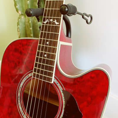 2002 Crafter Acoustic Electric Guitar ED-155 CEQ Malbec Red for sale