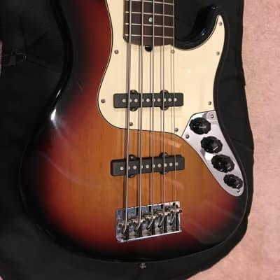 Fender American Deluxe Jazz Bass V Sunburst 2006 for sale