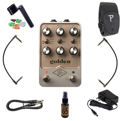 New Universal Audio UAFX Golden Reverberator Reverb Stereo Effects Pedal + FREE Guitar Accessories!