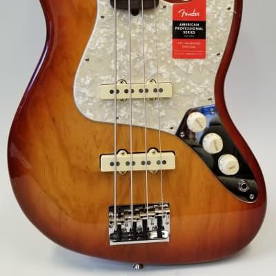 Fender Limited Edition Lightweight Ash American Professional Jazz Bass, Sienna Sunburst, RW Fingerboard for sale