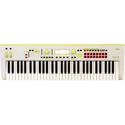 Korg Kross 2 61-Key Limited Edition Synthesizer Workstation - Yellow Green