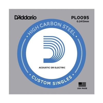 D'Addario Nickel Plain Electric/Acoustic Single String PL0095