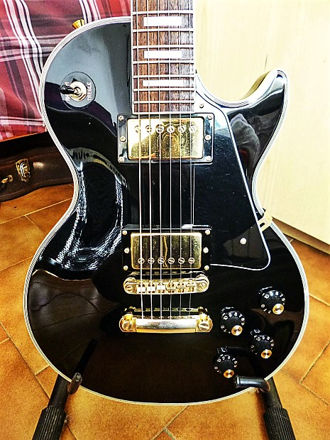 Auto Body Shops Near Me >> Kasuga Les Paul Custom (Japan) Lawsuit 70's Black Beauty ...
