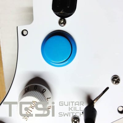 Tesi DITO 24MM Arcade Button Momentary Guitar Kill Switch Solid Light Blue