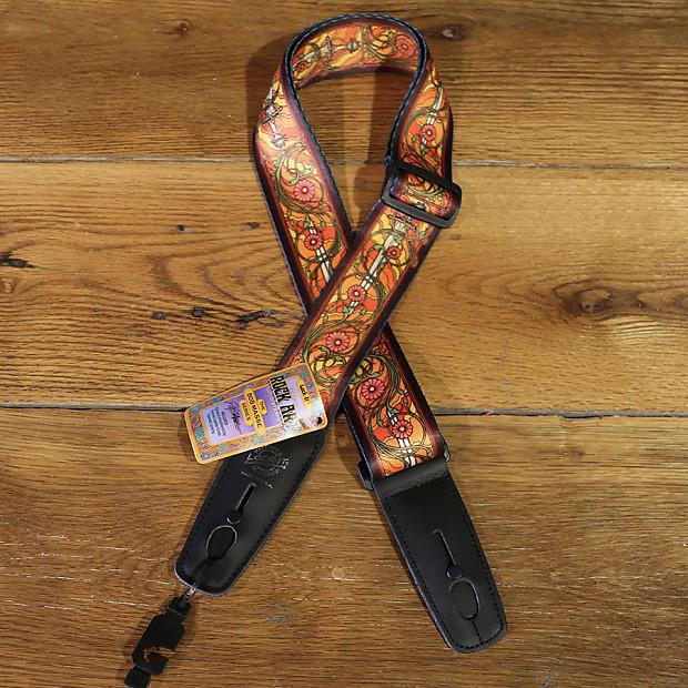 NEW Lock-It Straps Bob Masse Rock Art Leather End Guitar Strap Summer Of Love