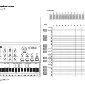 The Original Roots Korg Volca Keys Custom Patch Sheet