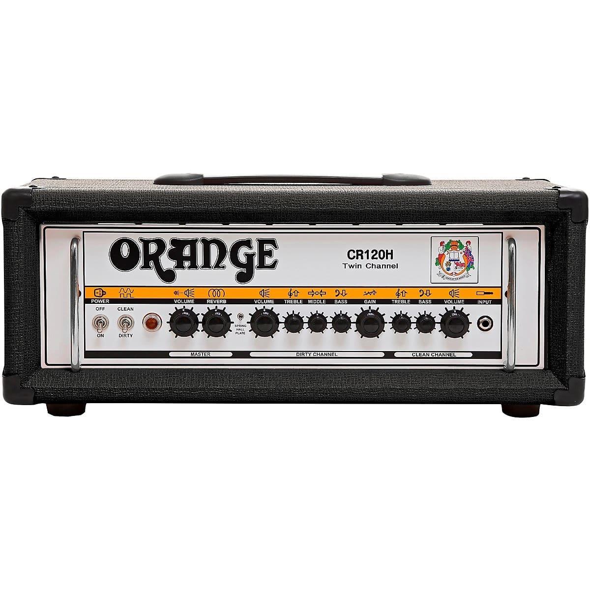 orange amplifiers crush pro cr120h 120w guitar amp head black reverb. Black Bedroom Furniture Sets. Home Design Ideas