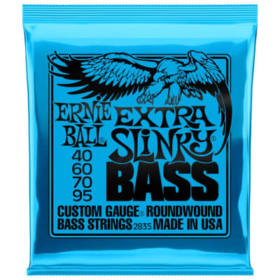 Ernie Ball Extra Slinky 40-95 4-String Bass Guitar Strings