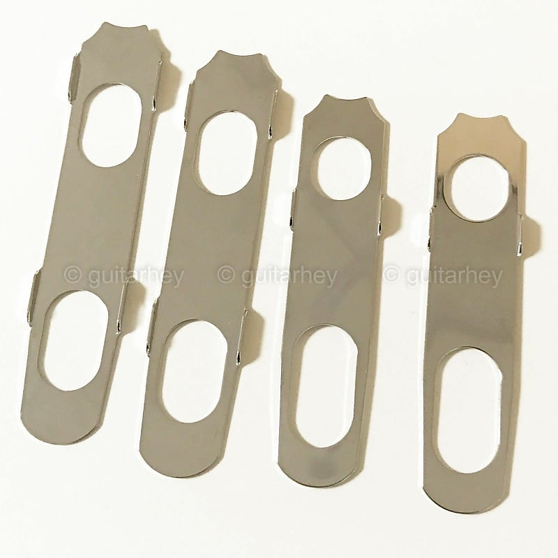 NEW Hipshot Grip-Lock Open-Gear LOCKING Tuners LARGE EBONY Buttons 3x3 NICKEL