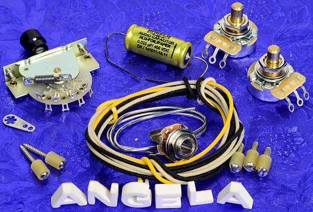 Angela Instruments Level 4033 Premium 3 Way Wiring Kit For Fender Telecaster New: Angela Tele Wiring Diagram At Satuska.co