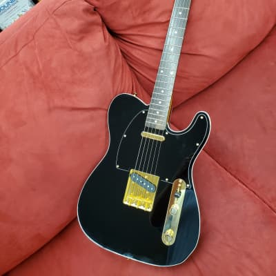 Fender Midnight Tele  Black And Gold Telecaster made in Japan with binding for sale