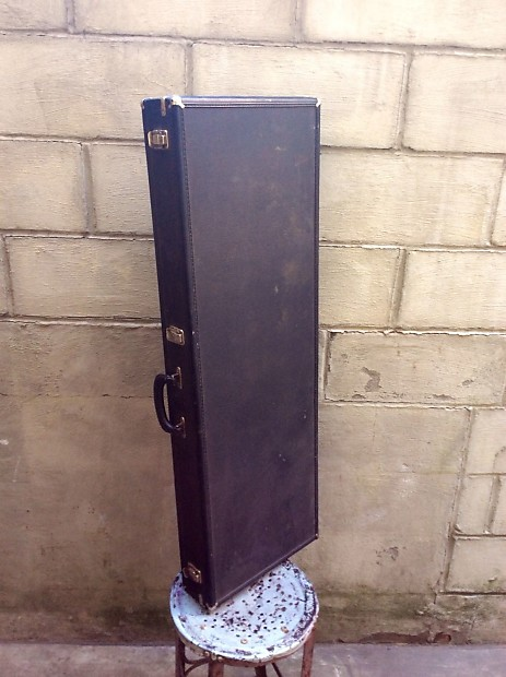 vintage gibson purple lined les paul square guitar case reverb. Black Bedroom Furniture Sets. Home Design Ideas