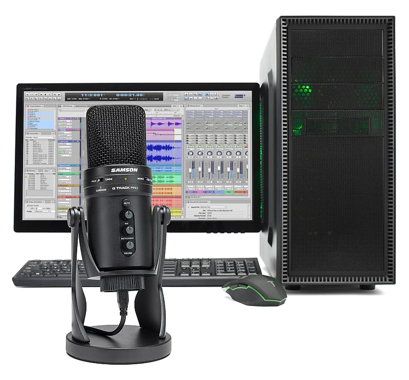 Samson G-Track Pro Gaming Twitch Microphone Streaming | Reverb