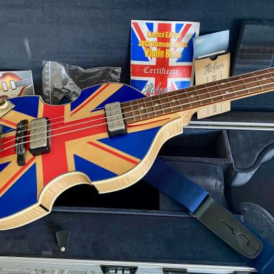 Hofner Left Handed 500/1 Diamond Jubilee (Violin) Beatle Bass 2012 Union Jack