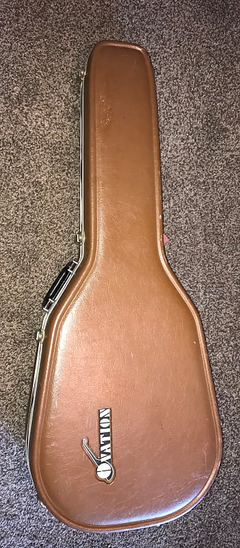 22aace7003 Vintage Ovation brown Deep bowl Guitar hardshell case for acoustic electric  only good shape.