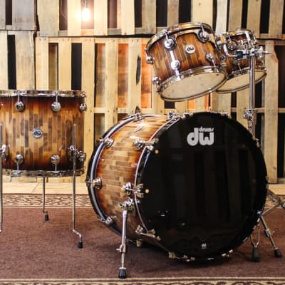 DW Collector's Red To Black Burst With Pinstripes - 22,10,12,16 - SO#1167881