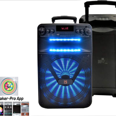 """Mr Dj ACE 15"""" Portable Speaker with Bluetooth/Rechargeable Battery and App Control"""