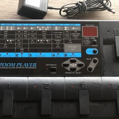 Zoom Player 2020 Advanced Guitar Effects Processor w/Power Supply