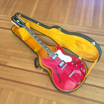 Epiphone Riviera XII c 1967 Cherry original vintage USA Kalamazoo Gibson 12 string electric guitar for sale