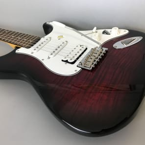 Schecter Traditional Custom HSS Black Cherry Burst for sale