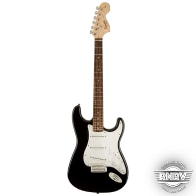 Fender Squier Affinity Stratocaster with Indian Laurel Fretboard Black for sale