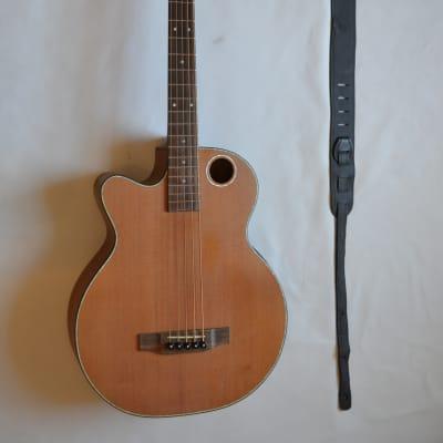 Boulder Creek EBR3-N5L Acoustic Electric Bass (Left Handed) 2015 Natrual/Satin for sale