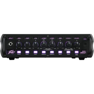 Peavey MiniMEGA 1000W 4-band EQ Compression DI Effects Loop Bass Amp Head