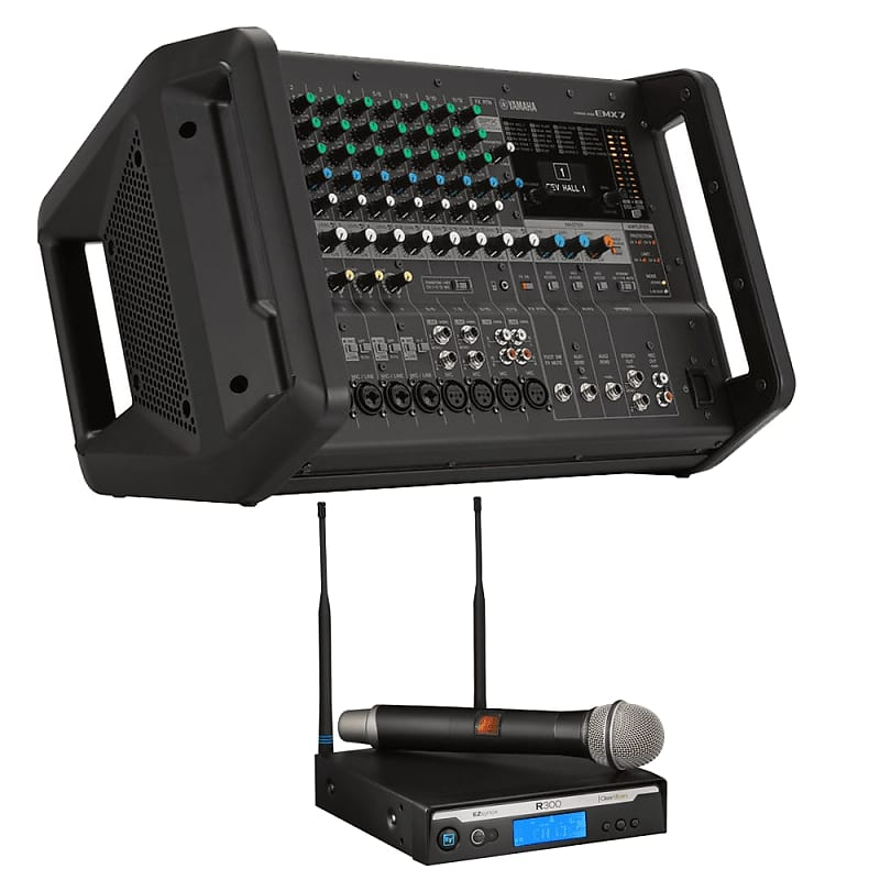 yamaha emx7 12 input powered mixer electro voice r300 hd reverb. Black Bedroom Furniture Sets. Home Design Ideas