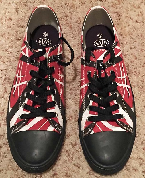 9798ef28e1 EVH 5150 low top athletic shoes red black white Size 11.5