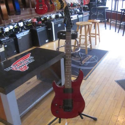 Left Handed Peavey Predator Plus EXP Electric Guitar w/ Tremolo Candy Apple Red for sale