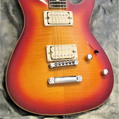CANVAS /CMF30/ Progressive Electric Guitar/Red-Burst /Tiger Maple for sale