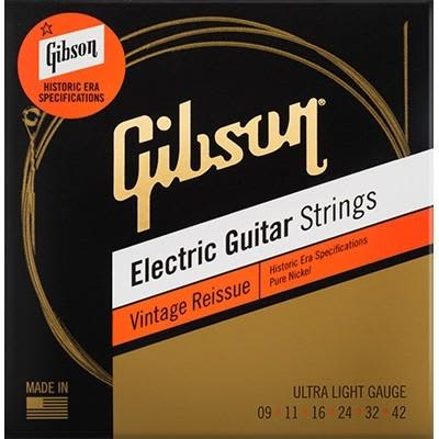 Gibson Vintage Reissue Electric Guitar Strings - Ultra Light 9-42 for sale